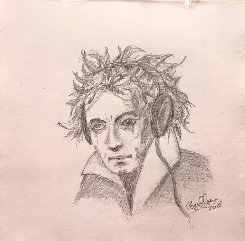 Ludwig van Beethoven portrait by Roger Glover