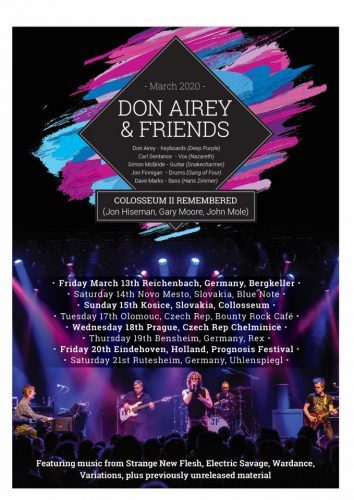 don airey march 2020 tour flyer