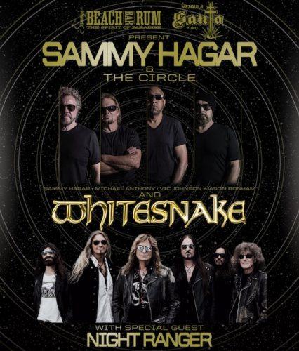 Sammy Hagar/Whitesnake US tour 2020 poster