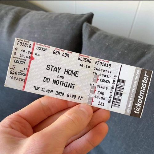 stay home ticket meme