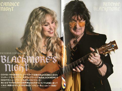 Blackmore's Night spread, Burrn! magazine, April 2021