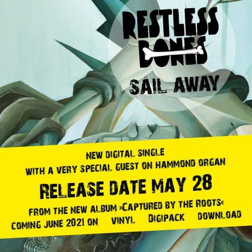 restless bones - sail away single artwork