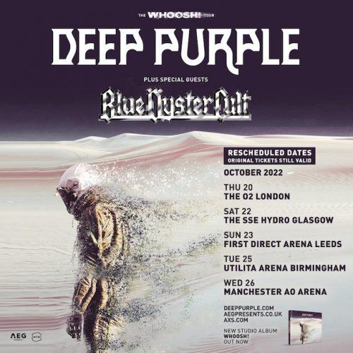 Deep Purple UK tour 2022 flyer